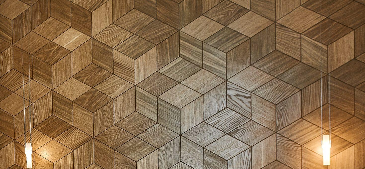 Интерьерная плитка из дерева